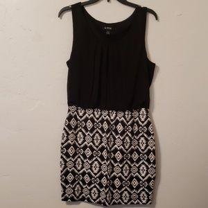 06bf7f28991 A Byer Stretch Black White Print Dress XL